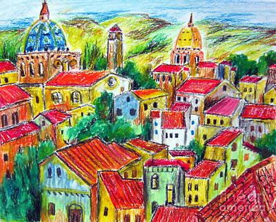 Paese Nella Verde Umbria Art Print by Roberto Gagliardi