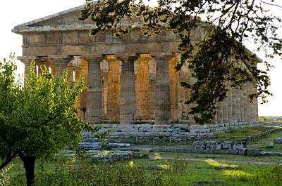 Hera Photograph - Paestum, Hera, Ruins, Campania, Italy by Charles Bowman