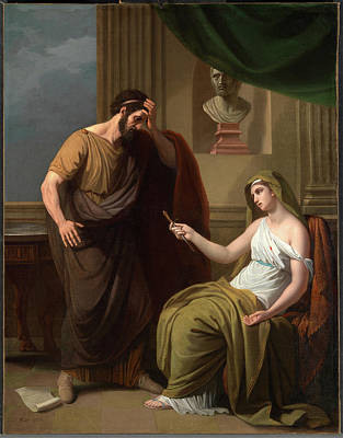 Rights Painting - Paetus And Arria Non Dolet, Paetus And Arria Non Dolet Die by Litz Collection
