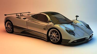 Digital Art - Pagani Zonda F by Louis Ferreira