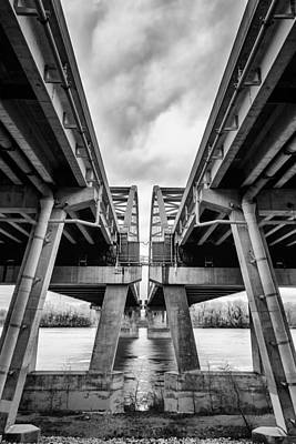 Creve Coeur Park Photograph - Page Bridge Geometry by Bill Tiepelman