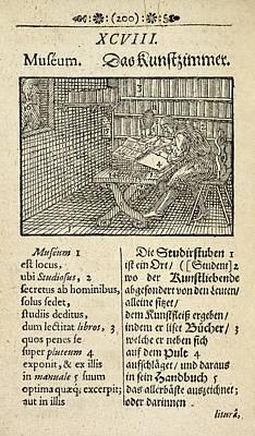 Page From 'orbis Sensualium Pictus' Art Print