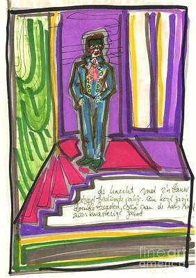 Page On Stage Art Print by Judith Van Praag