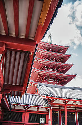 Photograph - Pagoda At Sensoji by Guy Whiteley
