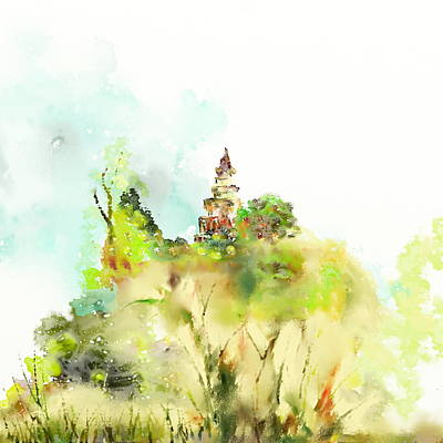 Inner World Painting - Pagoda by Len YewHeng