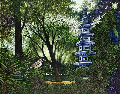Painting - Pagoda by Michael Frank