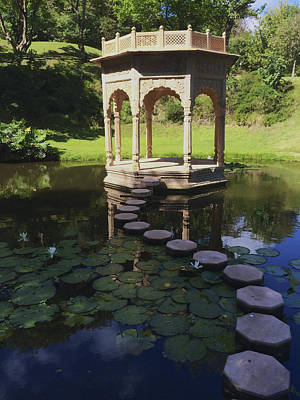 Photograph - Pagoda Of Tranquility On Lily Pond by John Colley