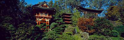 Tea Garden Photograph - Pagodas In A Park, Japanese Tea Garden by Panoramic Images