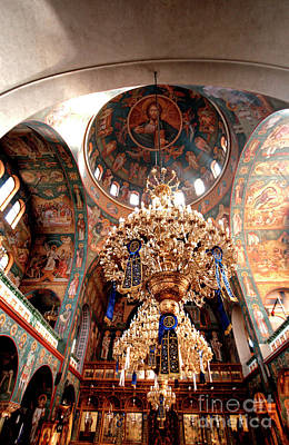 Photograph - Pagrati Athens Church Interior 3 by Deborah Smolinske