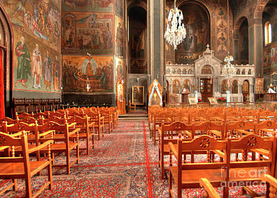 Photograph - Pagrati Athens Church Interior by Deborah Smolinske