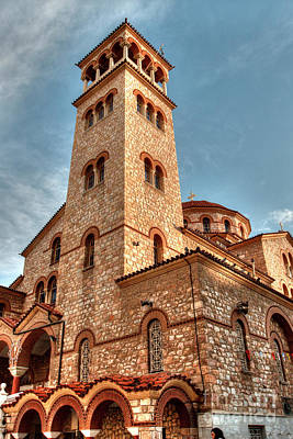 Photograph - Pagrati Athens Church Tower 2 by Deborah Smolinske