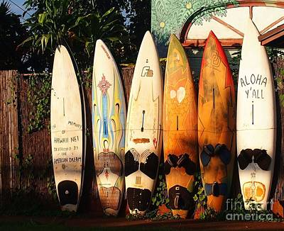 Painting - Paia Surfboards by Janet McDonald