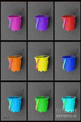Photograph - Pails Of Sand by Nina Silver