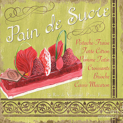 Paris Food Antique Market Painting - Pain De Sucre 2 by Debbie DeWitt