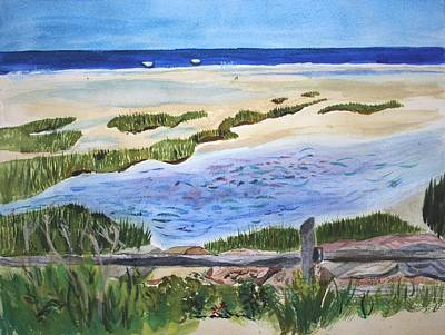 Painting - Paines Creeek Is A Wonderful Beach On Cape Cod Bay In The Town Of Brewster Ma. by Donna Walsh
