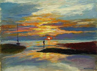 Painting - Paines Creek Sunset by Nicolas Bouteneff