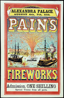 Alexandra Photograph - Pain's Fireworks by British Library