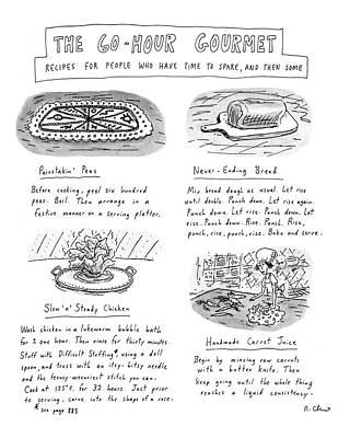 Dine Drawing - Painstakin' Peas by Roz Chast