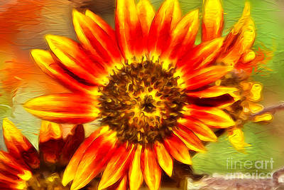 Digital Art - Paint A Sunflower  by Claudia Ellis
