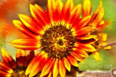 Digital Art - Paint A Sunflower  by Claudia Ellis