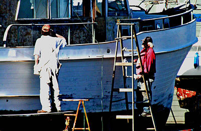 Photograph - Paint Above The Water Line by Joseph Coulombe