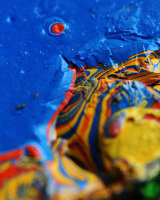 Photograph - Paint Booth Geology 6 by Scott Hovind