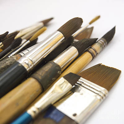 Paint Brushes Art Print by Bernard Jaubert