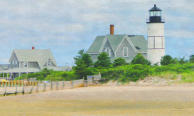 Beach House Drawing - Paint D - Cape Cod 01 by Joost Hogervorst