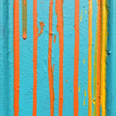Colorful Photograph - Paint Drips by Julie Gebhardt