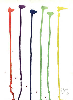 Paint Drops  Print by Cathy Peterson