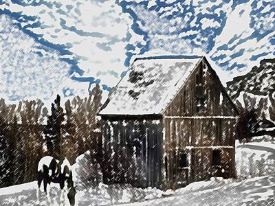 Paint Horse Art Print by Dennis Buckman