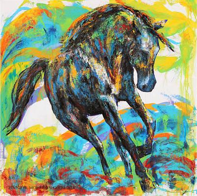 Painting - Paint Horse by Jennifer Morrison Godshalk