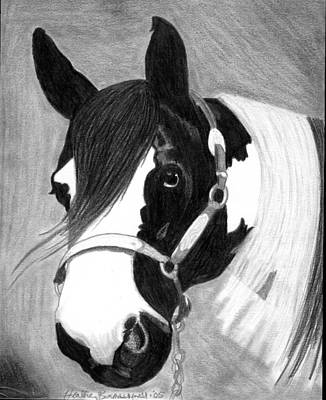 Paint Horse Art Print by Olde Time  Mercantile