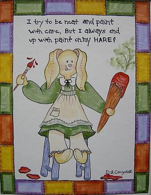 Paint On My Hare Art Print