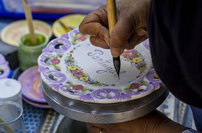 Paint On Plates Art Print
