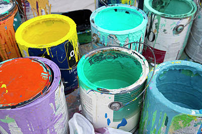 Mess Photograph - Paint Pots by Jim West