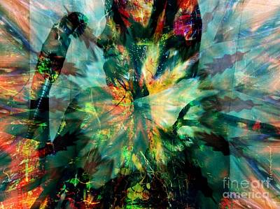 Yesayah Mixed Media - Paint Shower by Fania Simon