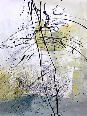Abstracted Painting - Paint Solo 5 by Jane Davies