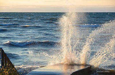 Photograph - Paint With Wind Water And Setting Sun by Lena Wilhite