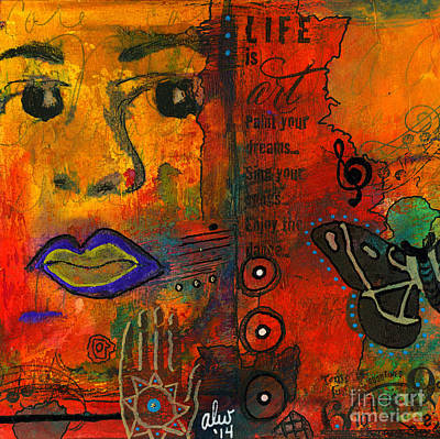 Mixed Media - Paint Your Dreams Angela by Angela L Walker