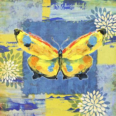 Abstract Butterfly Painting - Paintbrush Butterfly II by Paul Brent