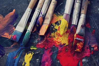 Paintbrushes  Art Print by Bella  Harris