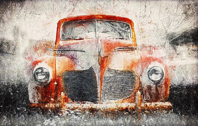 Rusted Cars Photograph - Painted 1940 Desoto Deluxe by Scott Norris