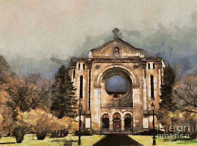 Painted Basilica Art Print by Teresa Zieba