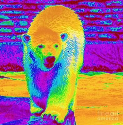 Fuzzy Digital Art - Painted Bear Cub by Kathleen Struckle