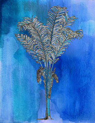 Painting - Painted Blue Palm by Kandy Hurley