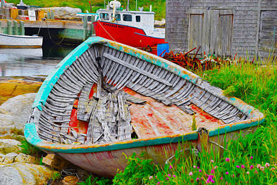 Photograph - Painted Boats by Will Burlingham
