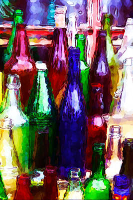 Photograph - Painted Bottles by Karol Livote