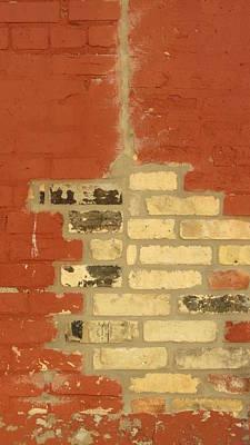 Photograph - Painted Brick 1 by Anita Burgermeister