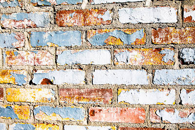 Photograph - Painted Brick by Audreen Gieger